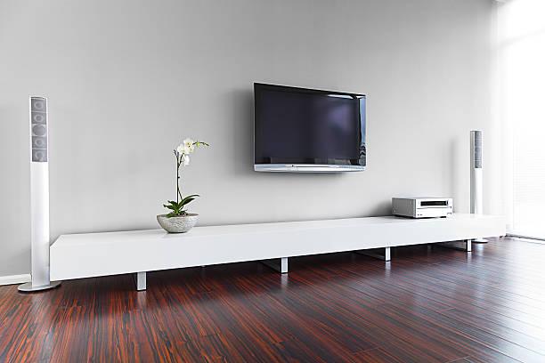 modernen wohnzimmer interior - anrichte weiß stock-fotos und bilder