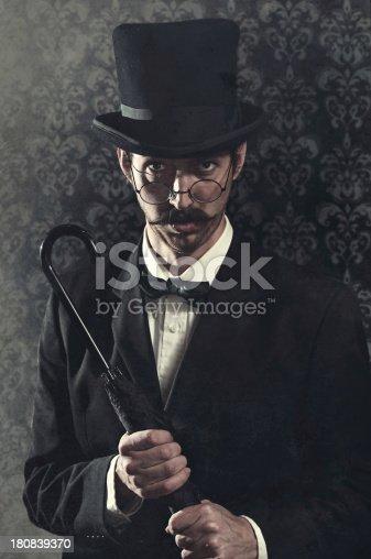 istock Classy Mustache Gentleman / Business Man With Top Hat 180839370