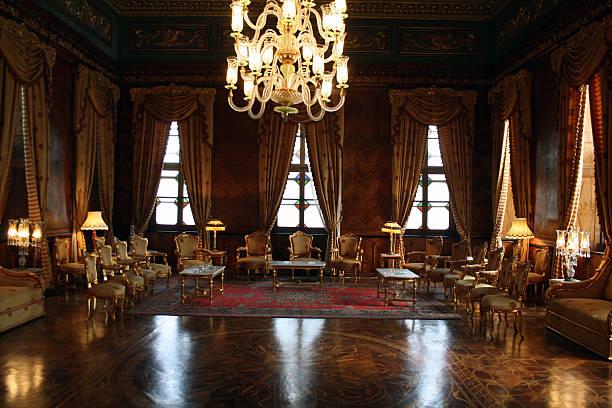 classy reception room - mohamed ali palace in egypt - palats bildbanksfoton och bilder