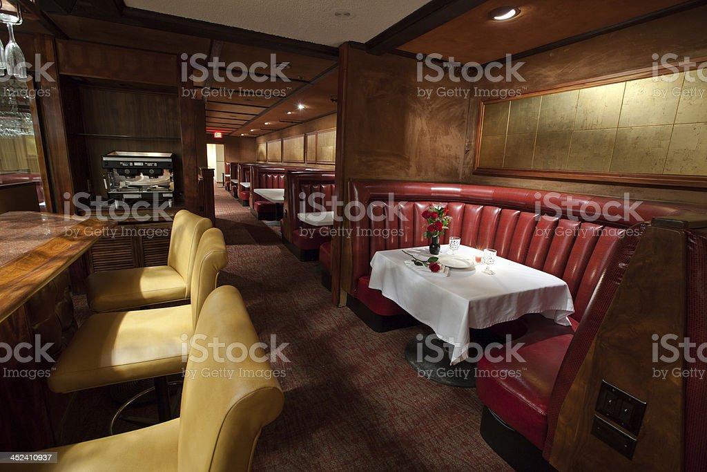 Classy Restaurant stock photo