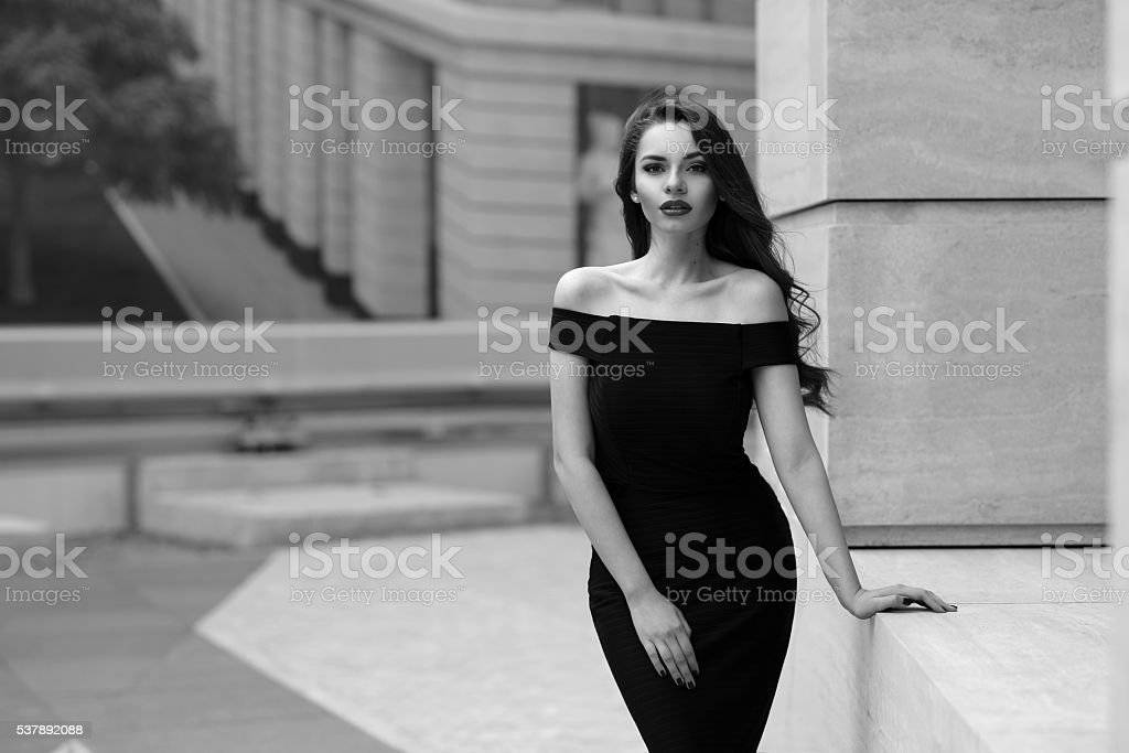 Classy stylish girl stock photo