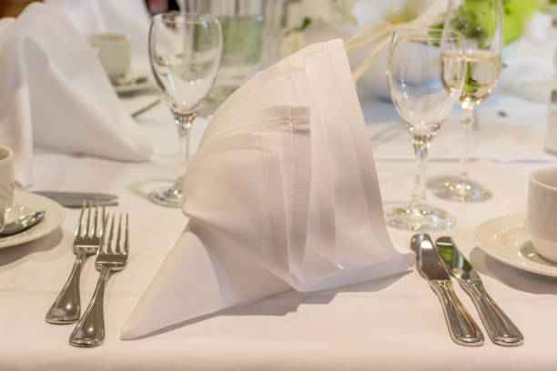 Edle Tisch in einem guten restaurant – Foto