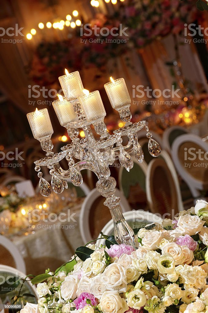 Classy wedding table setting royalty-free stock photo