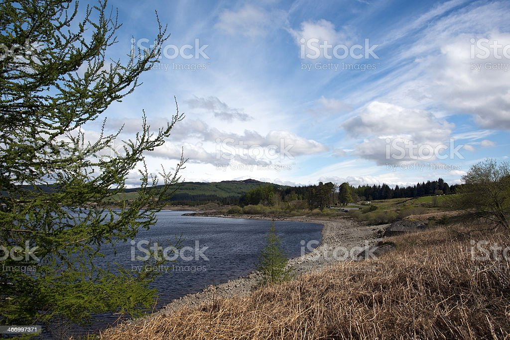 Clatteringshaws Loch royalty-free stock photo