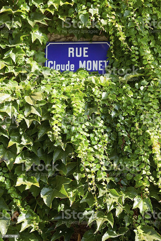Claude Monet home town, Giverny stock photo