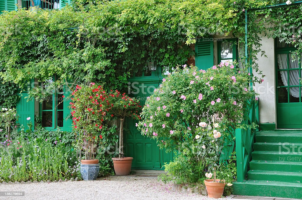 Claude Monet's home in Giverny stock photo