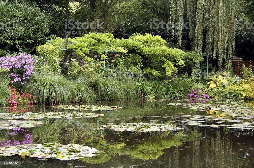Claude Monet's lily pond, Giverny, France stock photo