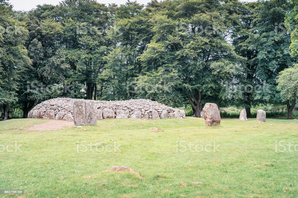 Clava cairns burrial mounds near Culloden Inverness Scotland stock photo