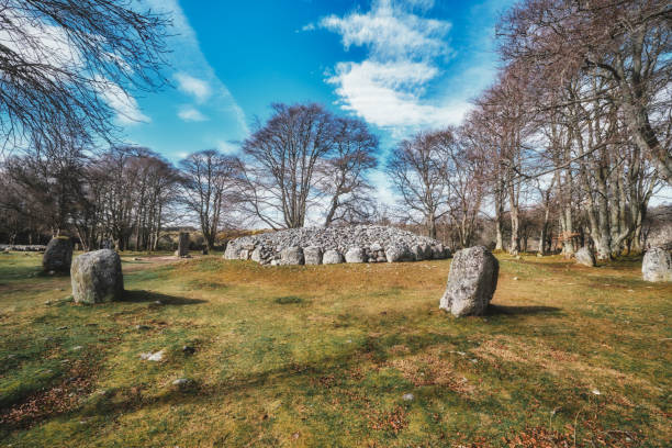 Clava Cairns, Culloden, Inverness, Scotland Clava Cairns bronze age stones outside Culloden, Inverness, Scotland. culloden stock pictures, royalty-free photos & images