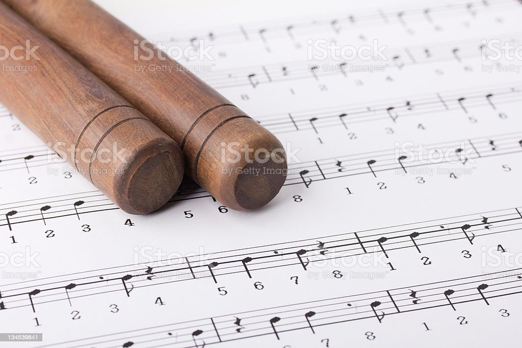 Clave and Its Rhythm stock photo