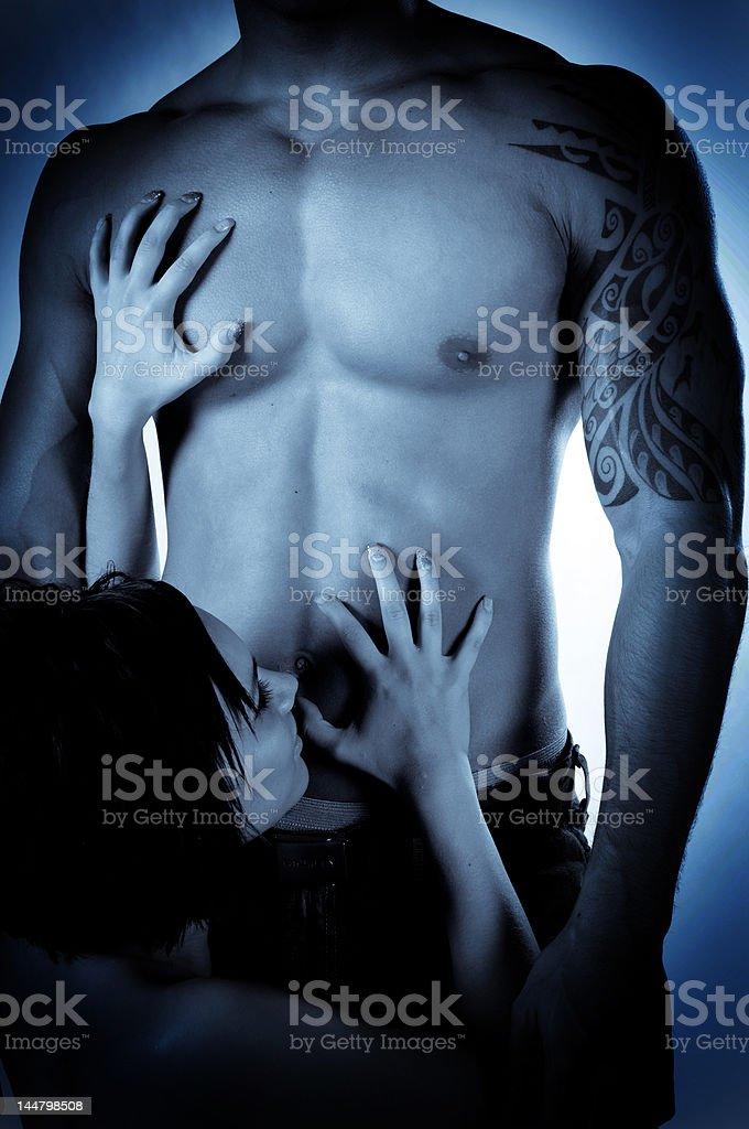Hochklettern der Brust – Foto