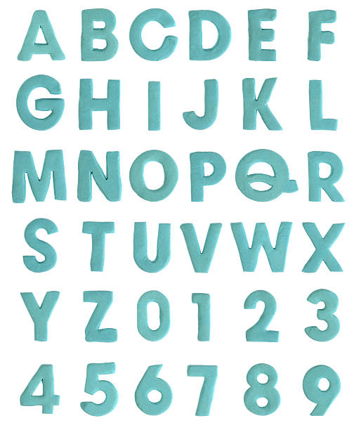 clay alphabet & numbers - ruth 個照片及圖片檔