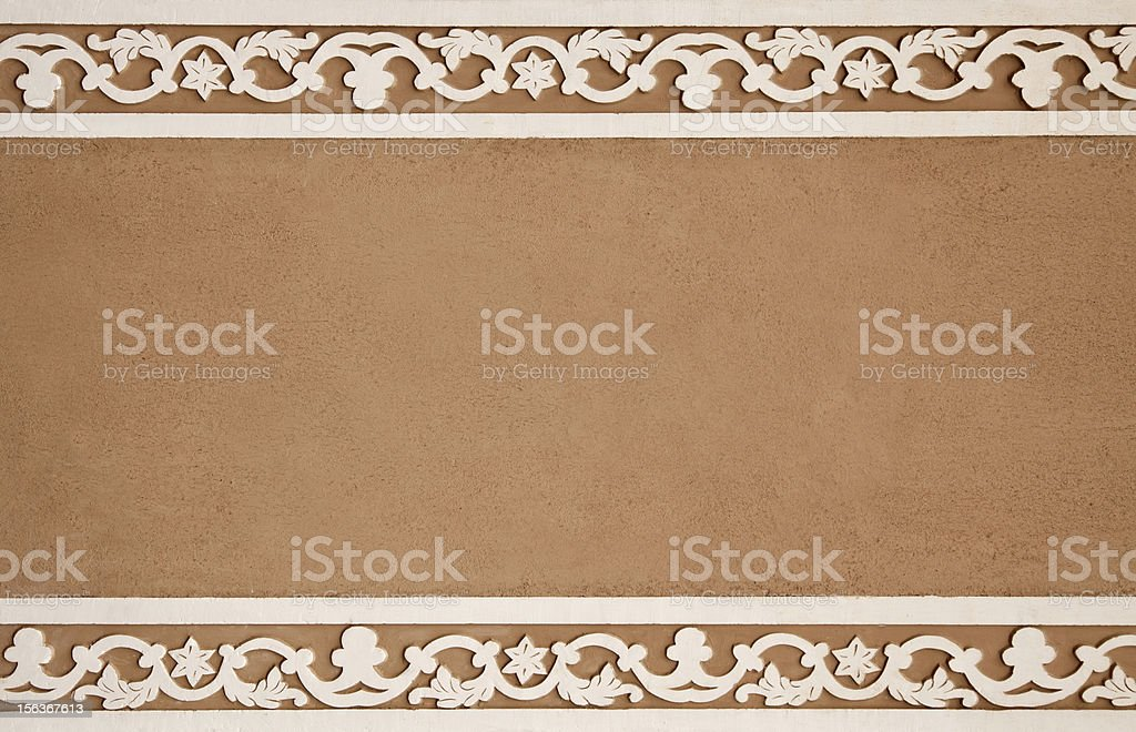 Clay Background with White Flower Frame royalty-free stock photo