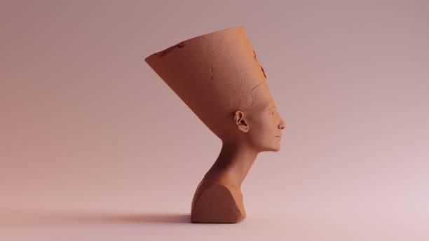 Clay Chocolate Bust of Nefertiti stock photo