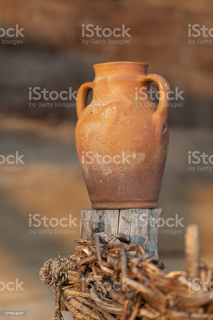 clay cup royalty-free stock photo