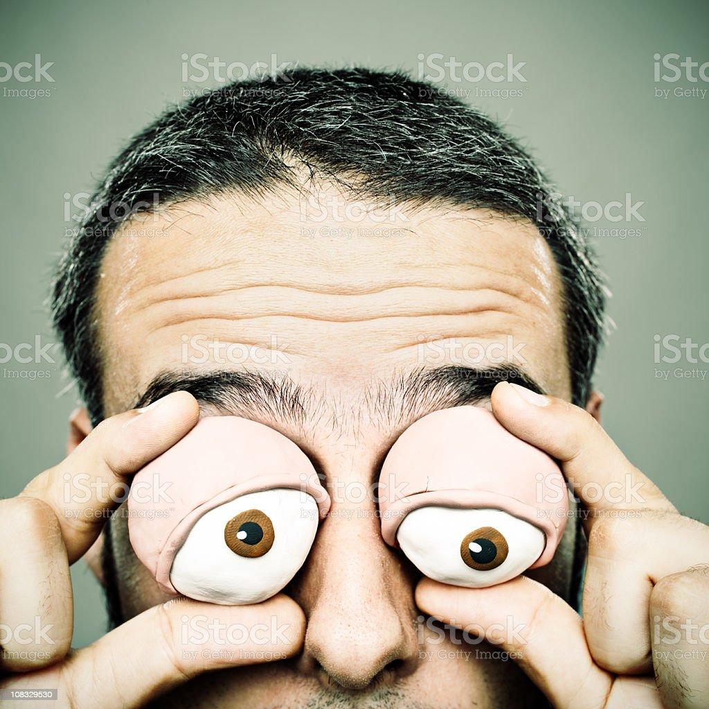 Clay eyes man royalty-free stock photo