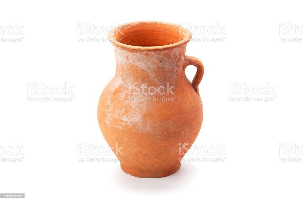 clay jug handmade stock photo