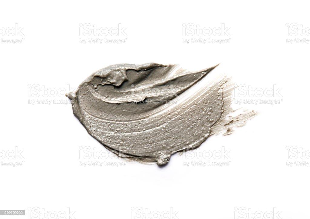 Máscara de arcilla aislada en blanco - foto de stock