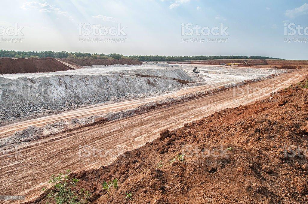 Clay mining stock photo