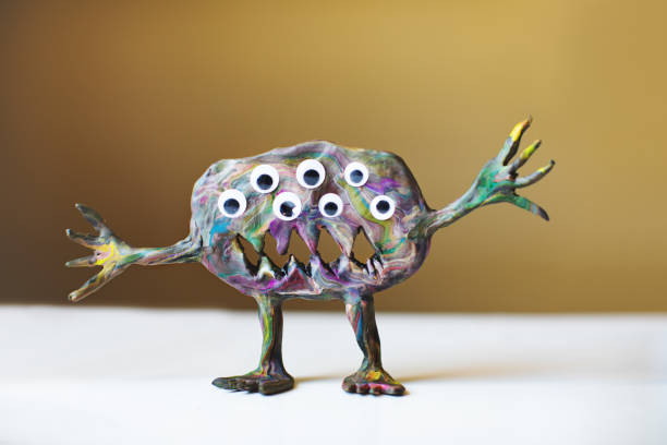 clay monster - monster stock pictures, royalty-free photos & images