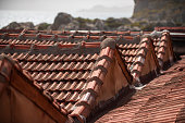 Clay old roof tiles