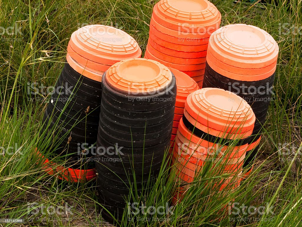 Clay pigeon royalty-free stock photo