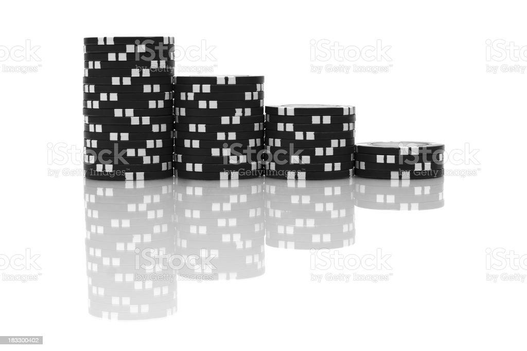Clay Poker Chips stock photo