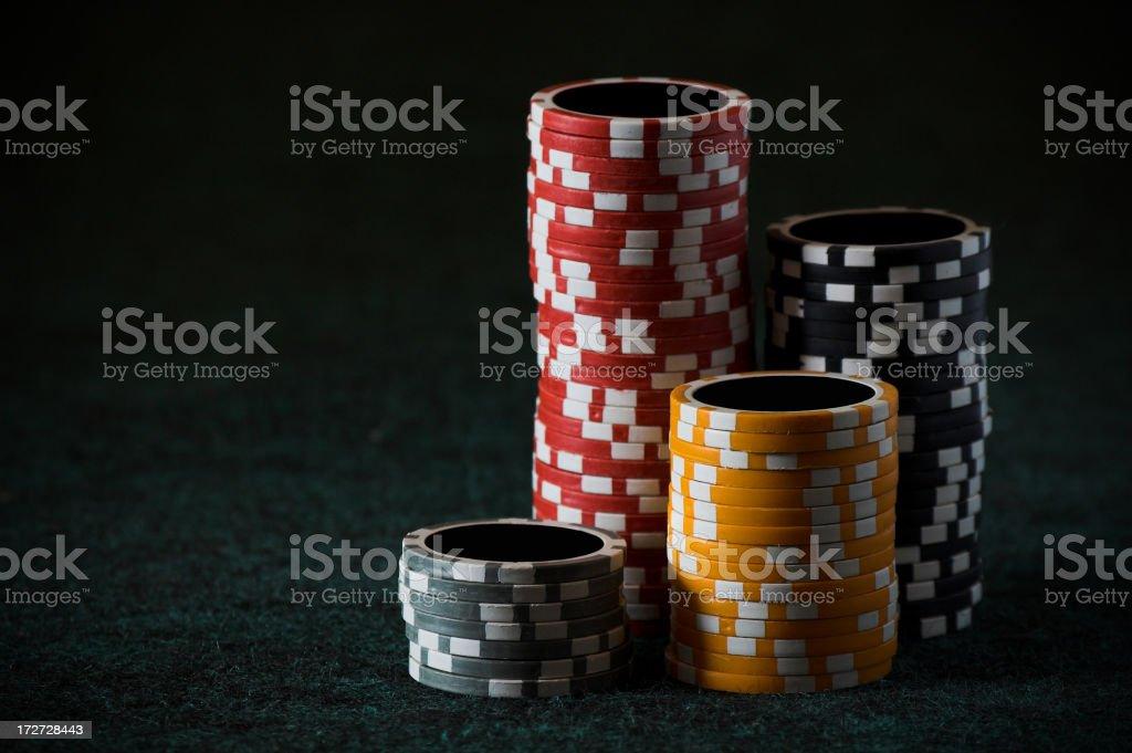 Clay poker/gambling chips 1 royalty-free stock photo