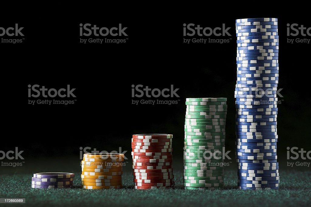 Clay poker/gambling chips 4 royalty-free stock photo