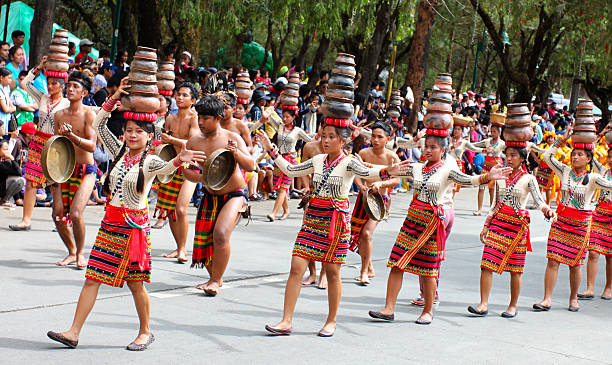 clay pot dancers - baguio city stock photos and pictures