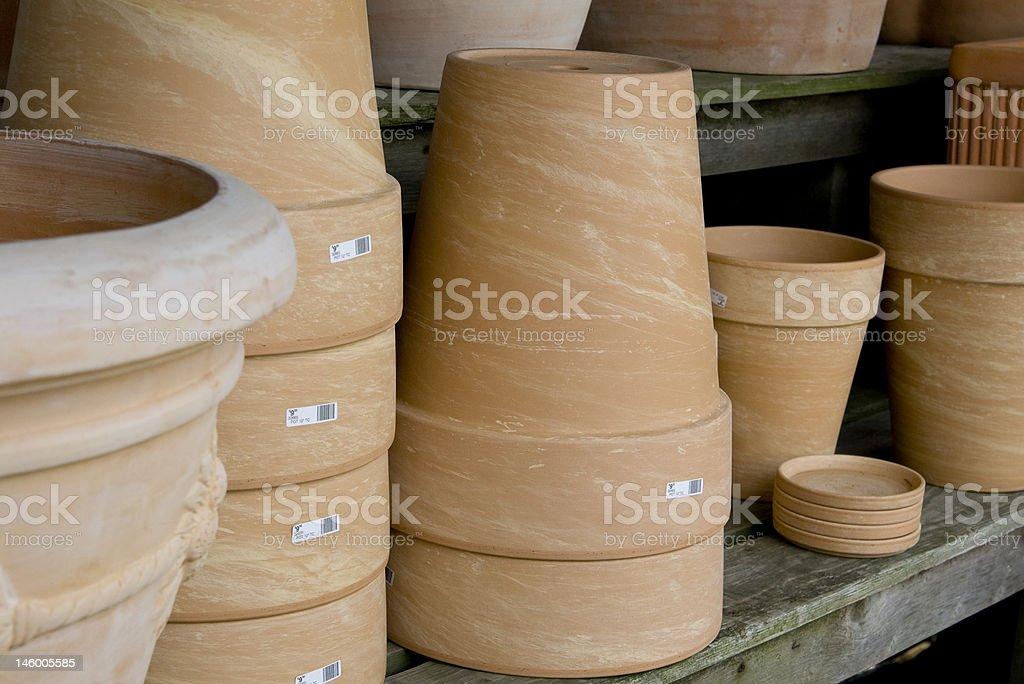 Clay Pots royalty-free stock photo