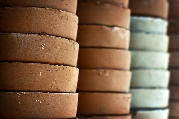 Clay Pots stock photo