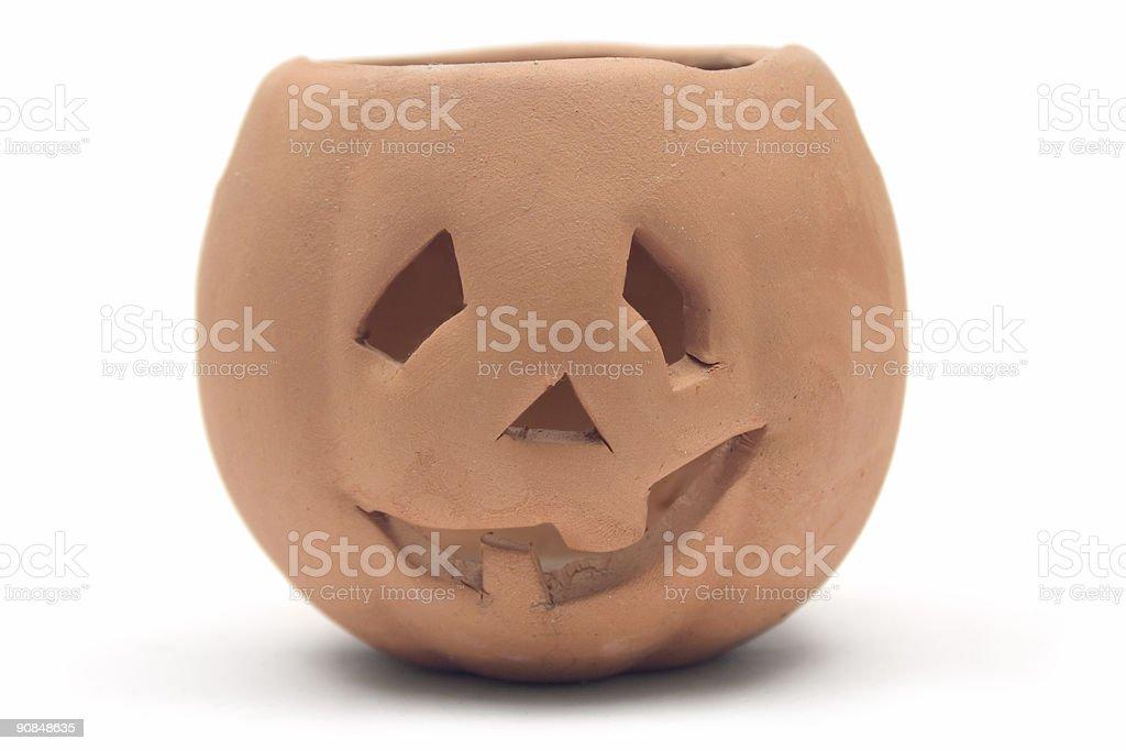 Clay Pumpkin royalty-free stock photo