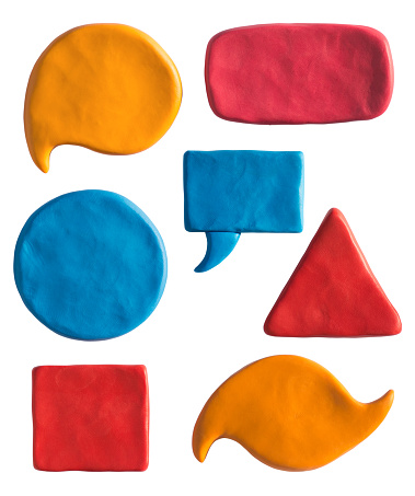 Geometry objects, backgrounds for text or any design. Putty design templates.