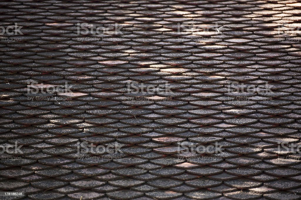 Clay roof tiles seamless vector pattern stock photo