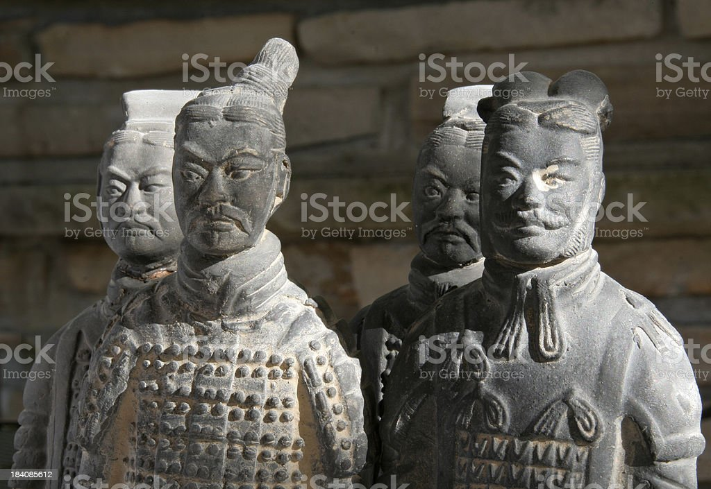 Clay Soldiers Close-up royalty-free stock photo