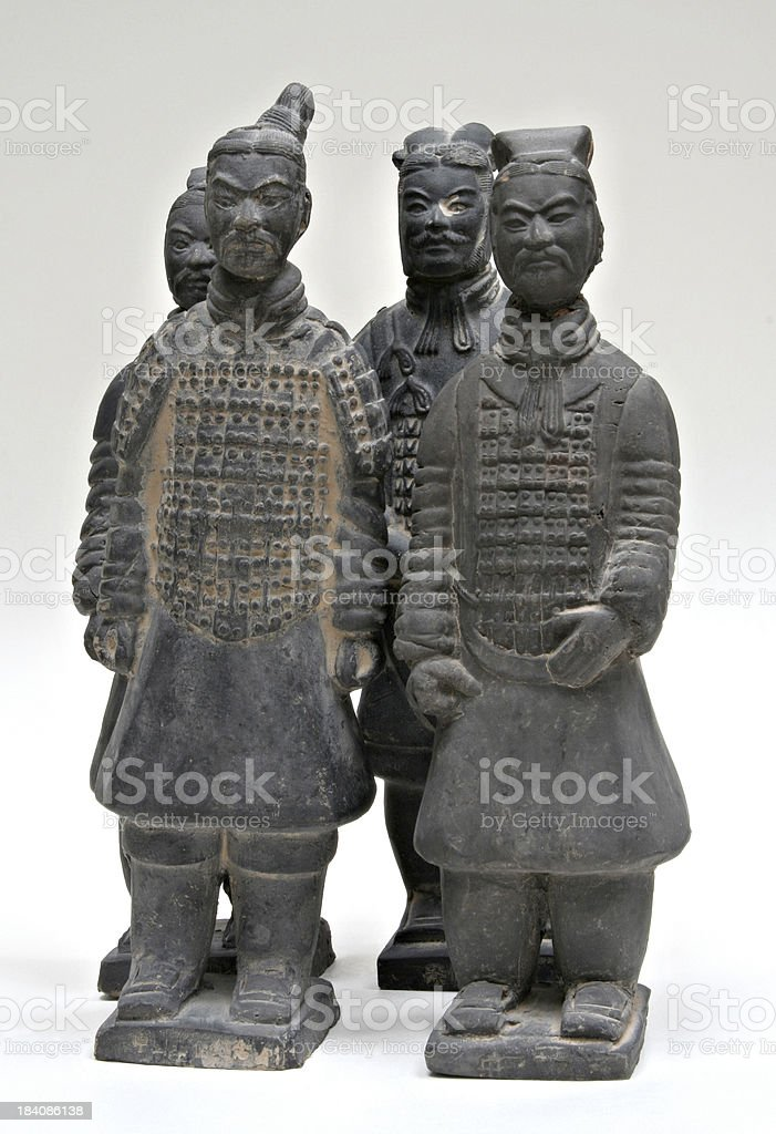 Clay Soldiers Full Figure royalty-free stock photo