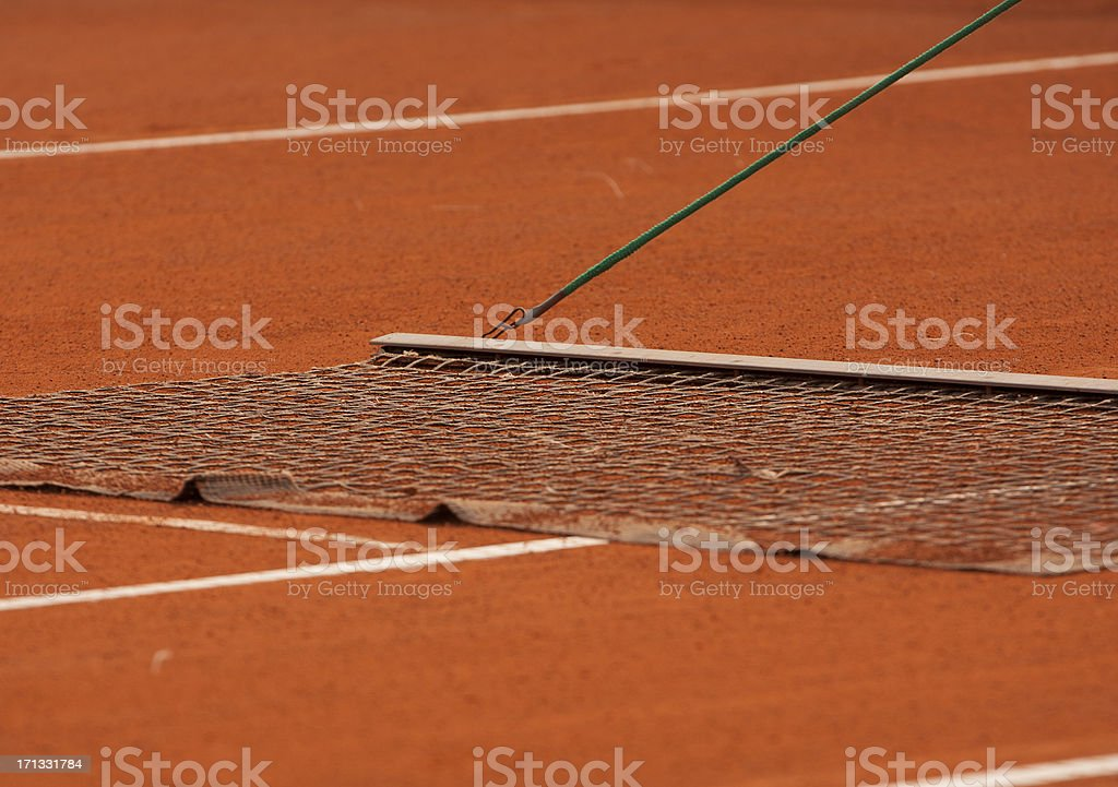 Clay tennis court harvest event stock photo