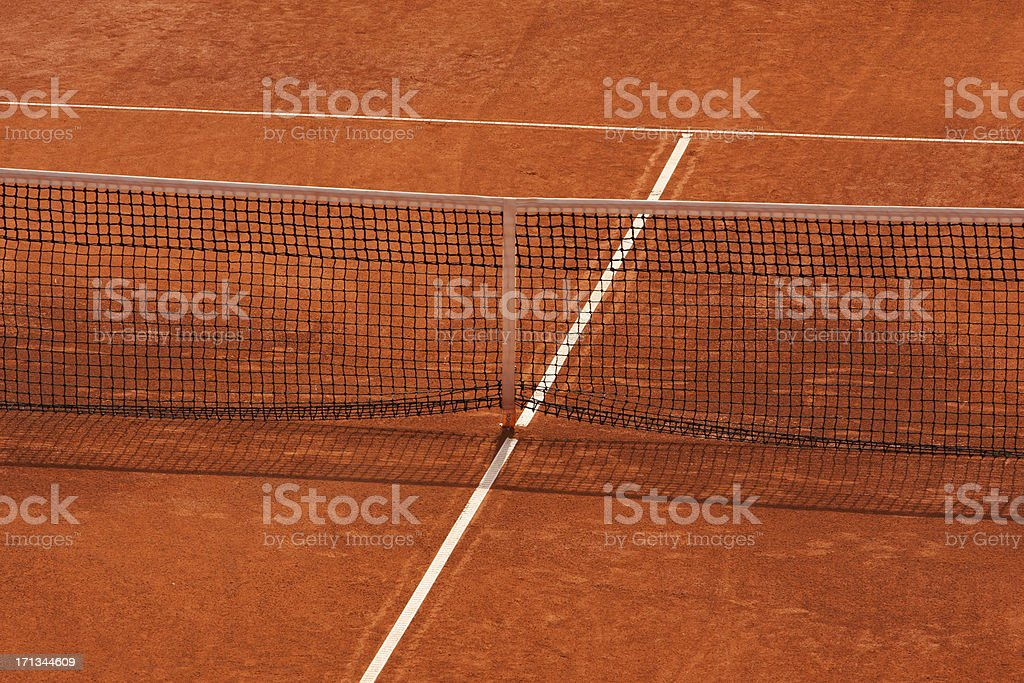 Clay tennis court stock photo