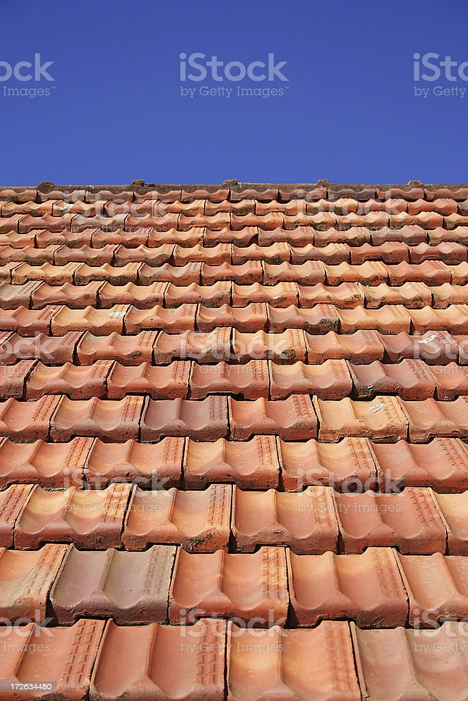 clay tile roof royalty-free stock photo