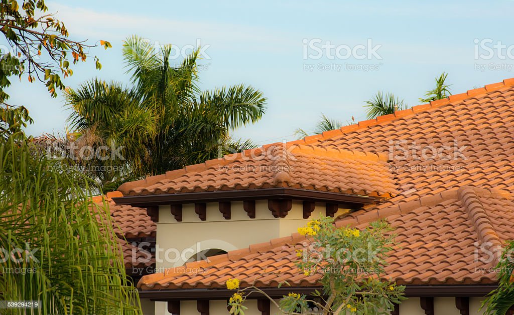 Clay Tiles stock photo