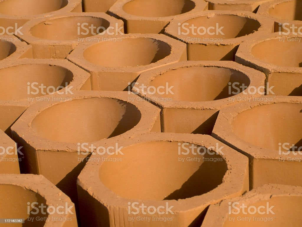 Clay Tubes royalty-free stock photo