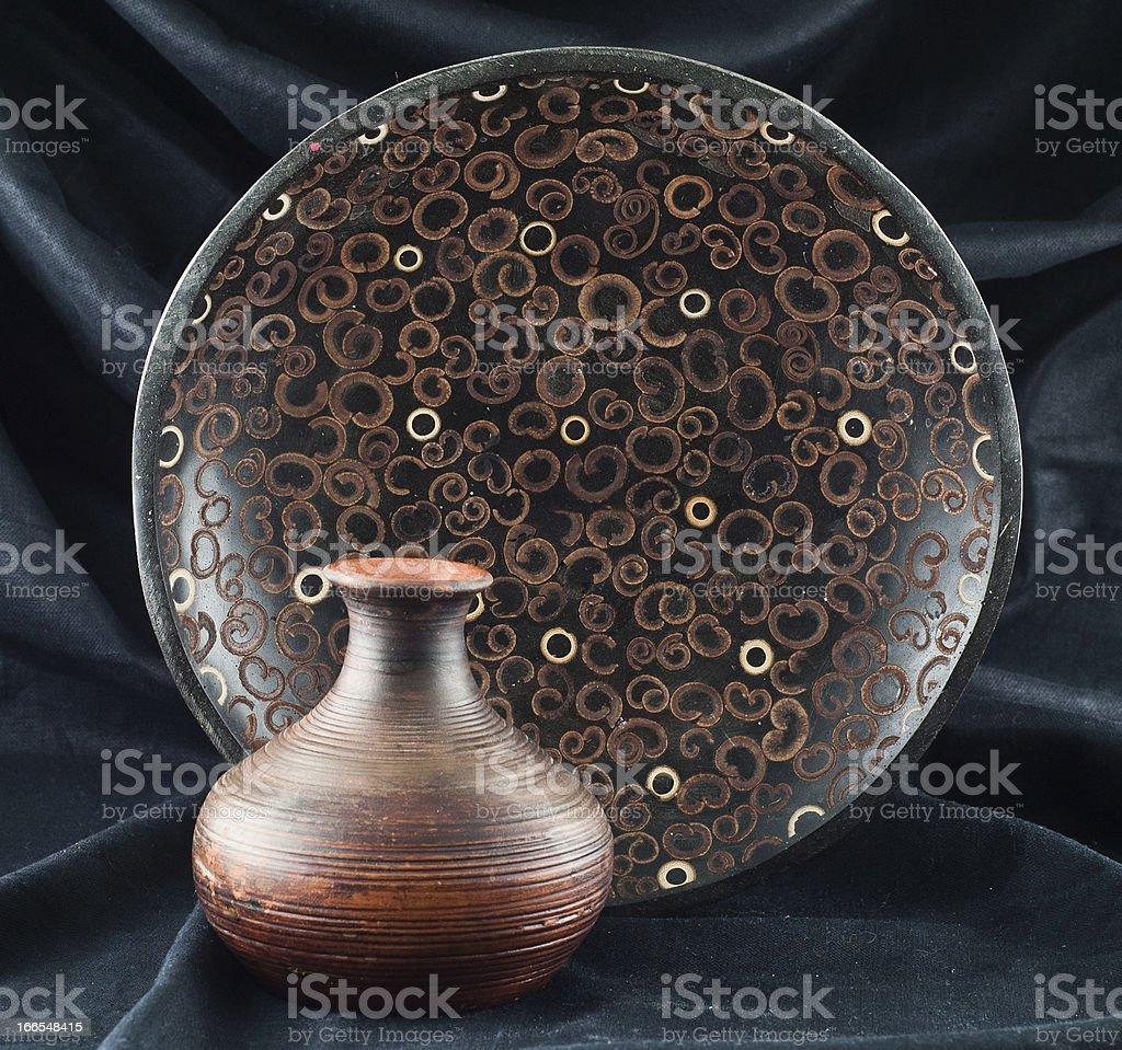 clay vase royalty-free stock photo