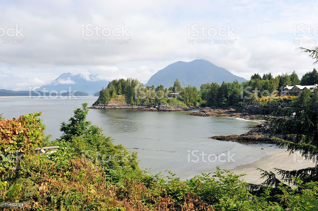 Clayoquot  Sound,Tofine,, Vancouver Island,Canada stock photo