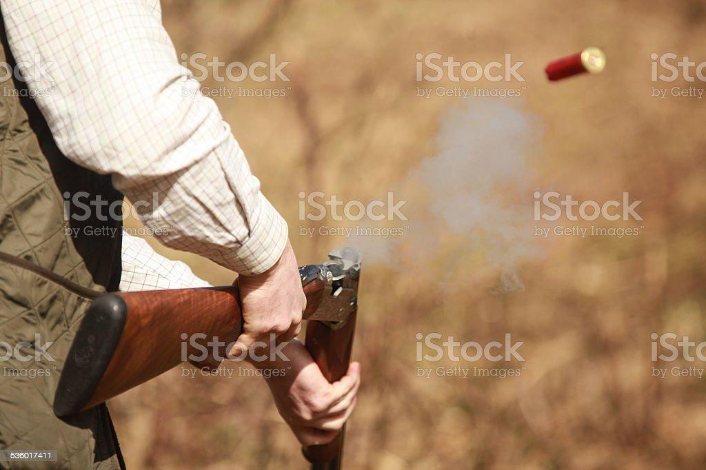 Claypigeon Shooting stock photo