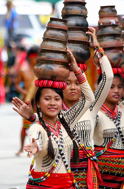 claypot dancers - baguio city stock photos and pictures