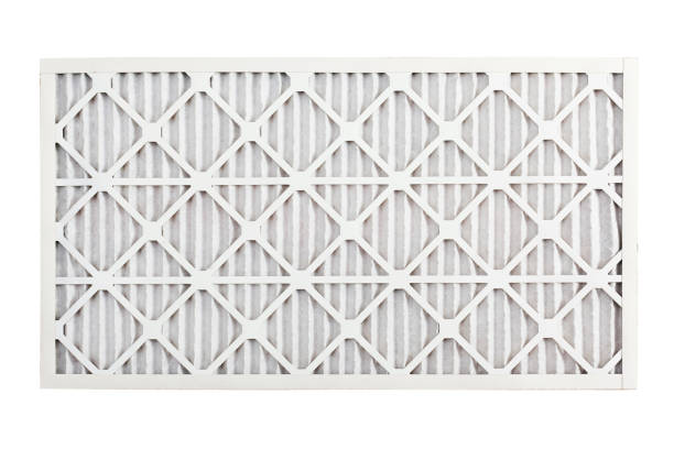 Clean Air Conditioner Filter stock photo