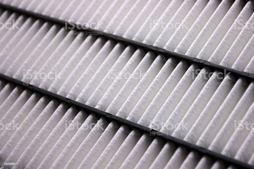 Clean air filter, 3 rows, white stock photo