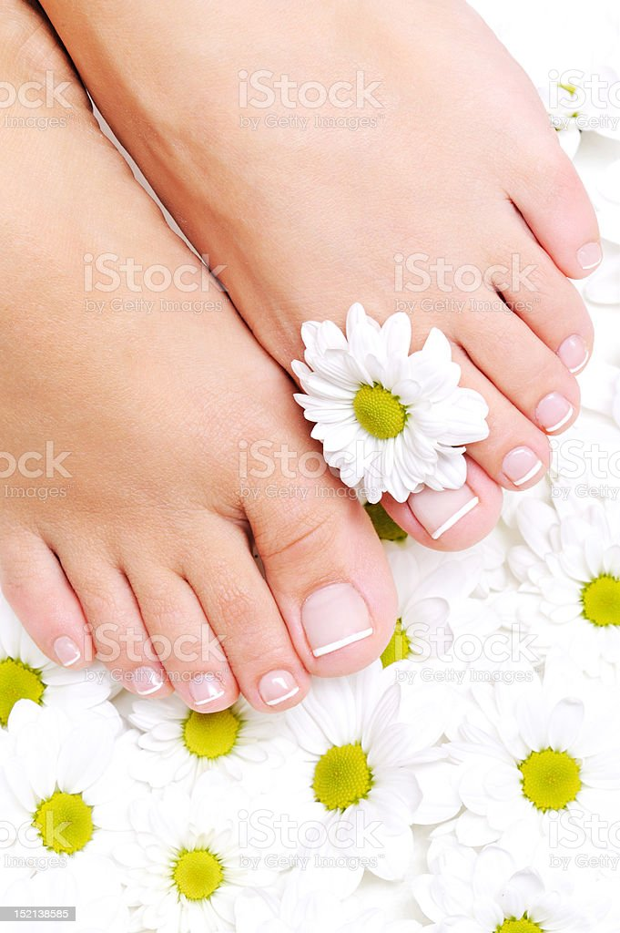 clean and beautiful woman's feet royalty-free stock photo