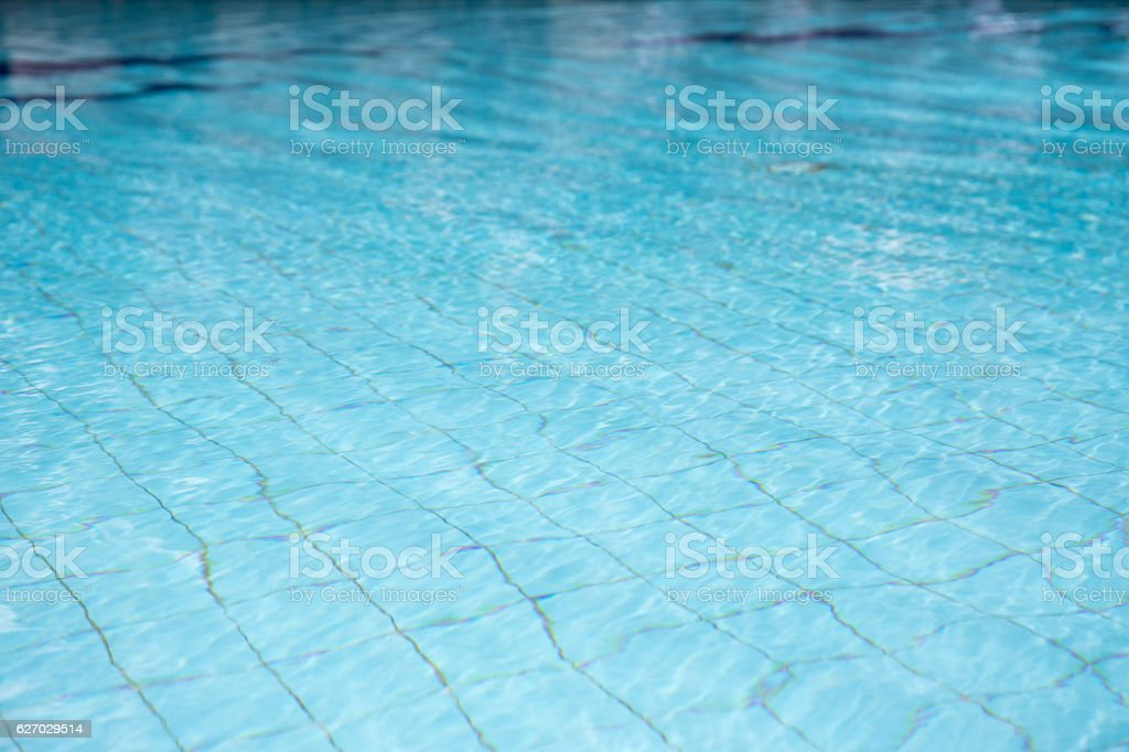 Clean And Clear Water In Blue Swimming Pool Stockfoto und ...